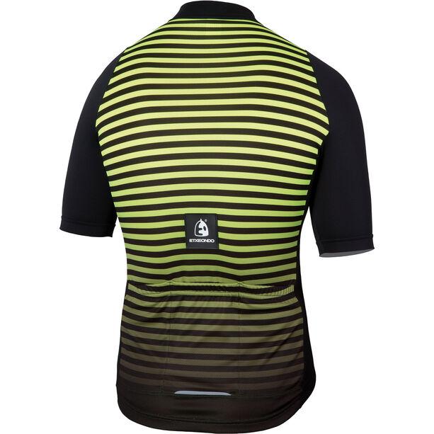 Etxeondo Maillot M/C Geo SS Jersey Herren black/yellow fluor