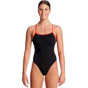 Funkita Cut Away One Piece Swimmsuit Ladies Still Black Solid