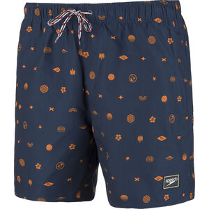 "speedo Printed Leisure 16"" Watershorts Herren navy/orange navy/orange"