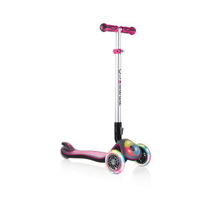 Globber Elite Prime Roller mit Batterielosen LED Blink-Rollen Kinder pink pink