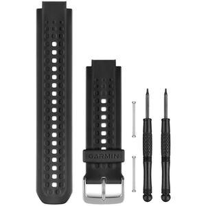 Garmin Silikon Uhrenband für Forerunner 25 black/silver black/silver