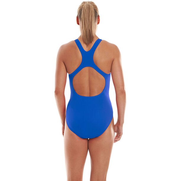 speedo Essential Endurance+ Medalist Badeanzug Damen neon blue