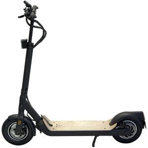 EGRET Ten V4 E-Scooter black/wooden footboard black/wooden footboard