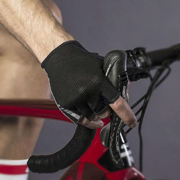 GripGrab EasyRider Padded Short Finger Gloves black