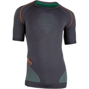 UYN Multisport Evolutyion UW SS Shirt Men Charcoal/Green/Orange Shiny bei fahrrad.de Online