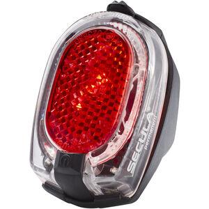 Busch + Müller Secula Batterie-Rücklicht permanent für Schutzblechmontage rot-schwarz rot-schwarz