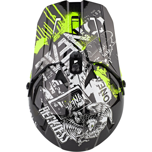 O'Neal Backflip Helm Attack Jugend black/neon yellow