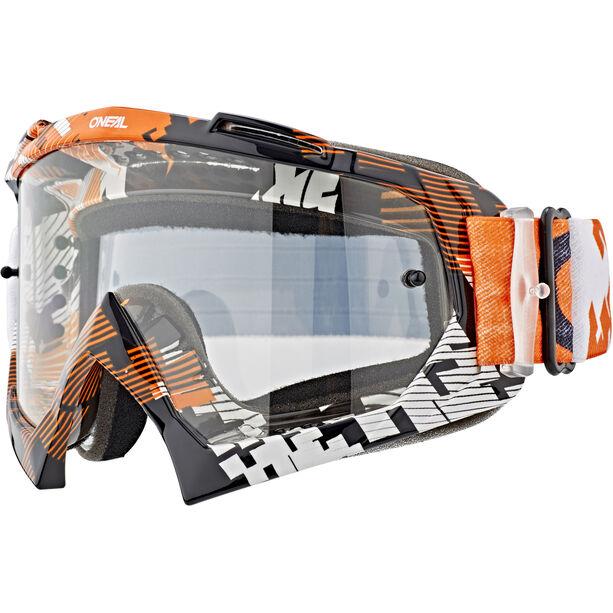 O'Neal B-10 Goggles pixe orange/white-clear