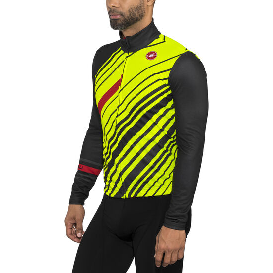 ... Castelli Cielo Full Zip Jersey Men dark gray yellow fluo bei fahrrad.de  Online ... 6b218f083