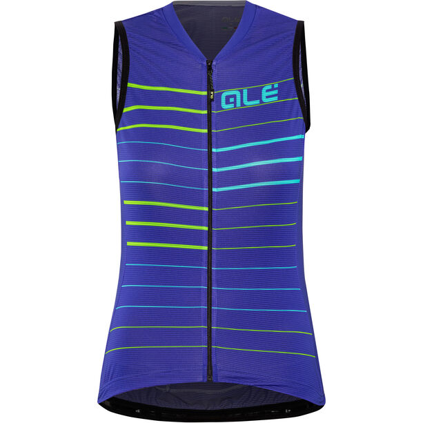 Alé Cycling Solid Ergo Sleeveless Jersey Damen pure blue-turquoise