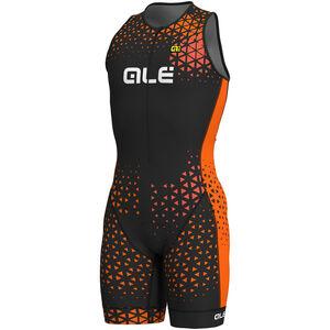 Alé Cycling Rush Tri Sleeveless Unitard Long Men black-flou orange bei fahrrad.de Online