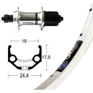 Ryde Zac 19 Hinterrad 28X1.75 TX800 8/10-fach silber silber