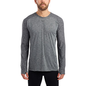 saucony Breakthru Langarm-Shirt Herren dark grey heather dark grey heather
