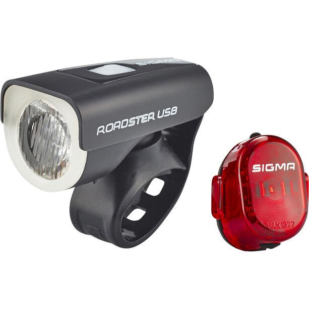 SIGMA SPORT Roadster Beleuchtungs Set USB/Nugget II