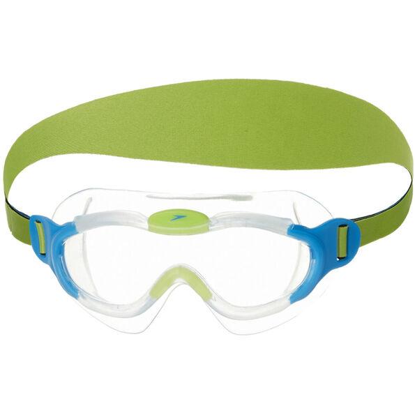 speedo Biofuse Sea Squad Mask Kinder sport blue/hydro green