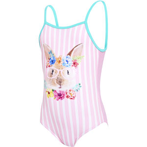 Zoggs Tropical Bunny U Back Swimsuit Mädchen pink pink