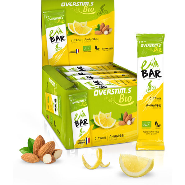 OVERSTIM.s E Organic Riegel Box 25x32g Lemon Almond