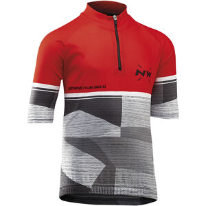 Northwave Origin SS Jersey Kinder red/grey red/grey
