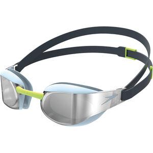 speedo Fastskin Elite Mirror Goggles blue/silver blue/silver