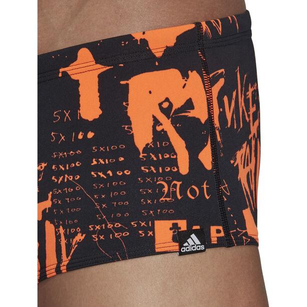 adidas Pro Allover Print Aquashorts Herren solar orange/white