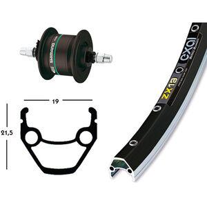 Exal ZX 19 Vorderrad 26x1.75 Nabend. DHC3000 schwarz bei fahrrad.de Online