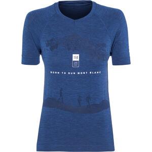 Compressport Training Mont Blanc 2019 SS T-Shirt Damen blue blue