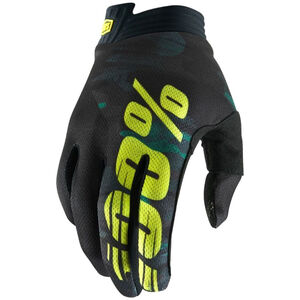 100% iTrack Gloves Kinder camo black/green camo black/green