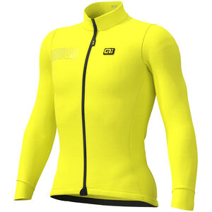 Alé Cycling Solid Color Block Longsleeve Jersey Herren fluo yellow fluo yellow
