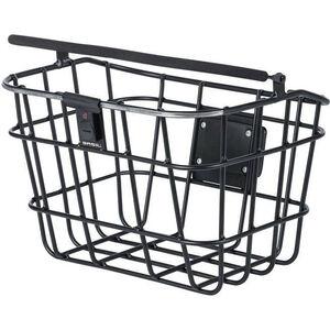 Basil Bremen Alu Front Wheel Basket with Klickfix, Northern Lights schwarz schwarz