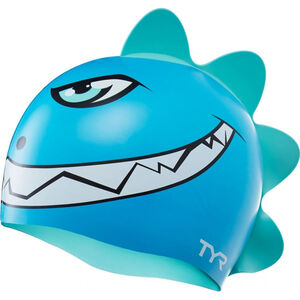 TYR Charactyrs Dino Destroyer Swimming Cap Kinder blue/green blue/green