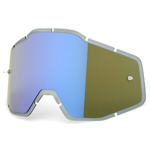100% Mirror Anti-Fog F. Injected Lenses Racecraft/Accuri/Strata blue mirror/smoke anti-fog blue mirror/smoke anti-fog