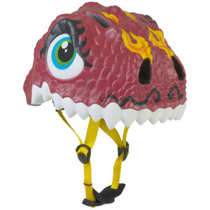 Crazy Safety Drache Helm braun