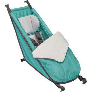 Croozer Babysitz inkl. Winter-Set für Kid Plus / Kid ab 2014 Kinder artic green artic green