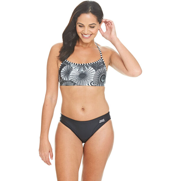 Zoggs Tassles Crossback Two Piece Bikini Damen multi/black