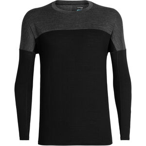 Icebreaker Kinetica LS Crewe Shirt Herren black/black heather black/black heather