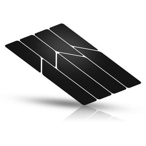 rie:sel design re:flex Reflektierende Aufkleber für Rahmen black black