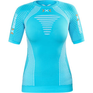 637ea829755c03 X-Bionic Effektor Running Power Shirt SS Women Turquoise White