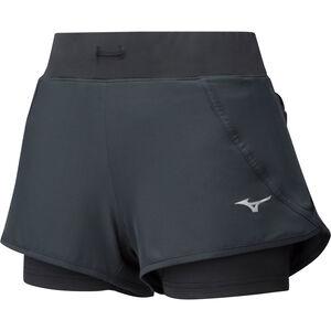 Mizuno Mujin 4.5 2In1 Shorts Damen black black