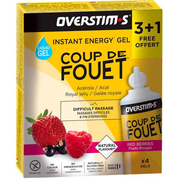 OVERSTIM.s Coup de Fouet Liquid Gel Box 3+1 Free 4x30g Red Berries