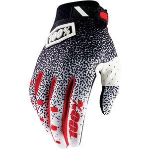100% Ridefit Gloves black/white black/white