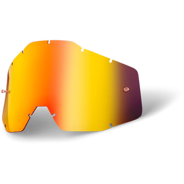 100% Replacement Lenses red / mirror