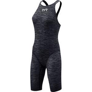TYR Thresher Baja Open Back Swimsuit Damen black black