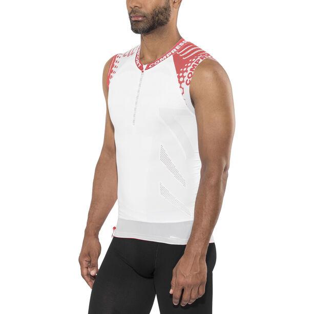 Compressport Trail Running Shirt Tank white