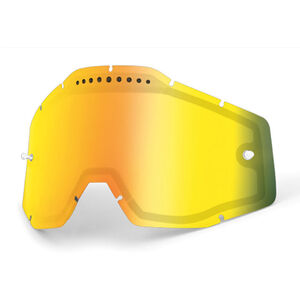 100% Vented Dual Replacement Lenses gold / mirror bei fahrrad.de Online