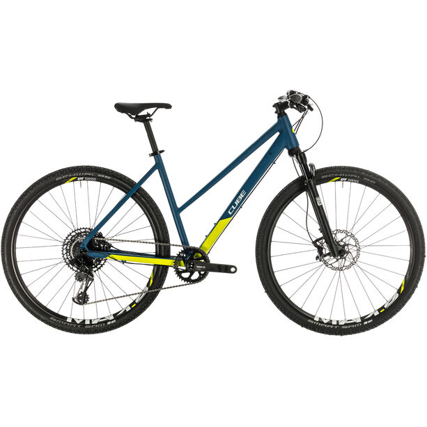 Cube Cross SL Trapez blue/lime