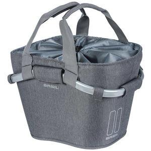 Basil 2Day Front Wheel Basket Bag 15l, with Klickfix adapter plate grey melee grey melee
