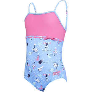 Zoggs Space Circus Ruffle X Back Swimsuit Mädchen blue/multi blue/multi