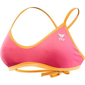 TYR Solid Crosscut Tieback Bikini Top Damen fluo pink/orange fluo pink/orange