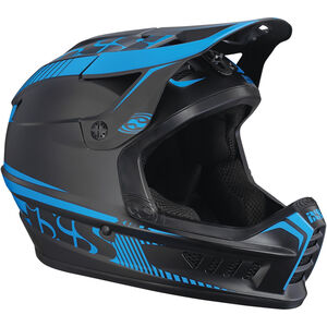 IXS Xact Fullface Helmet black/fluo blue black/fluo blue