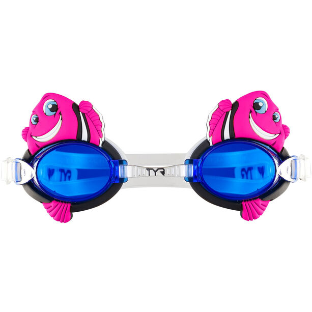 TYR Charactyrs Happy Fish Goggles Kinder fluo pink
